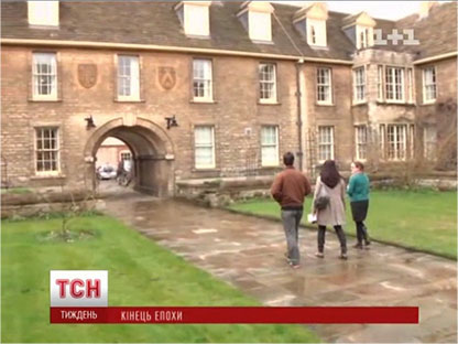 Filming the news episode on Margaret Thatcher's life in Oxford. (c) www.tsn.ua